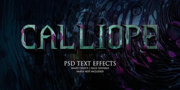 Effet de texte calliope