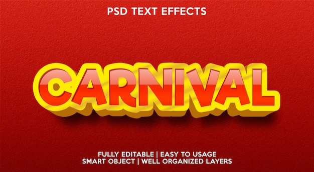 Effet de texte de carnaval