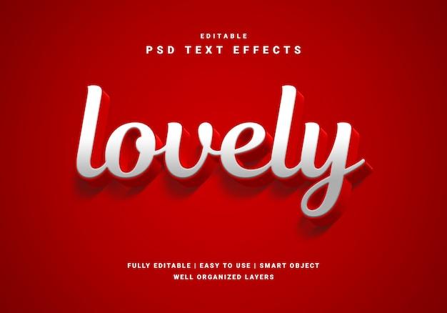 Effet de texte charmant style valentine 3d