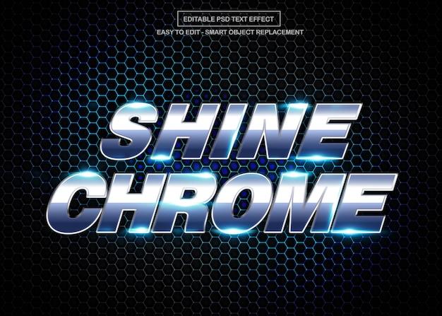 Effet de texte chrome brillant