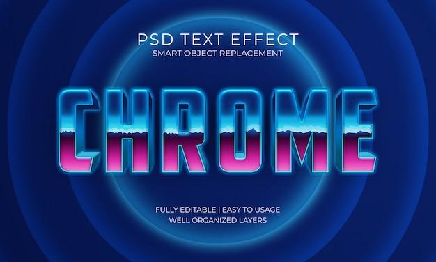 Effet texte chromé