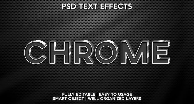 Effet de texte chromé