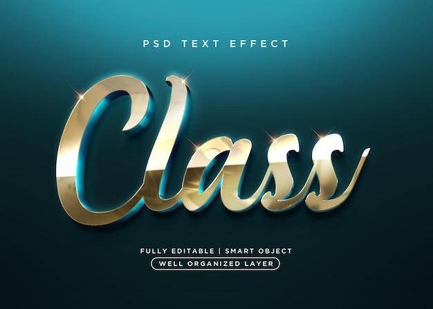 Effet de texte de classe de style 3d