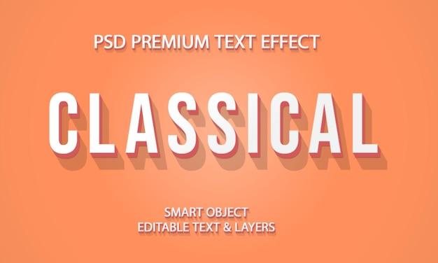 Effet de texte classique vintage design