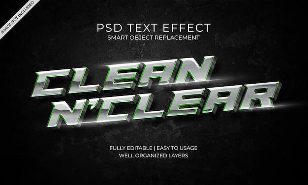 Effet de texte clean n clear
