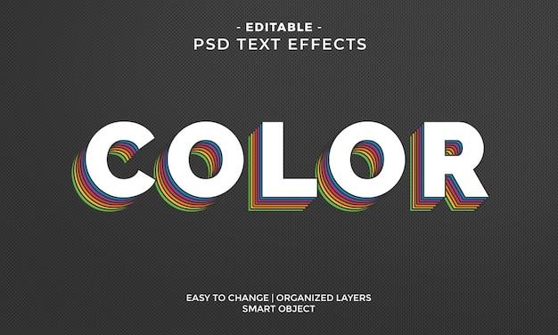 Effet de texte coloré impressionnant