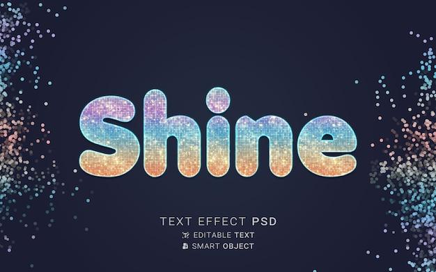 Effet de texte avec conception de particules