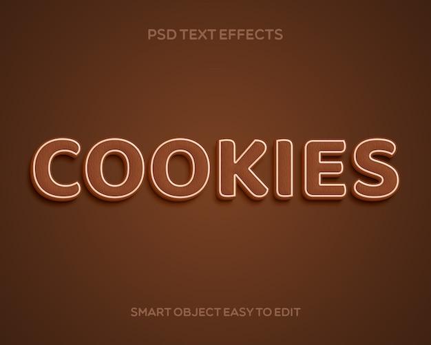 Effet de texte des cookies