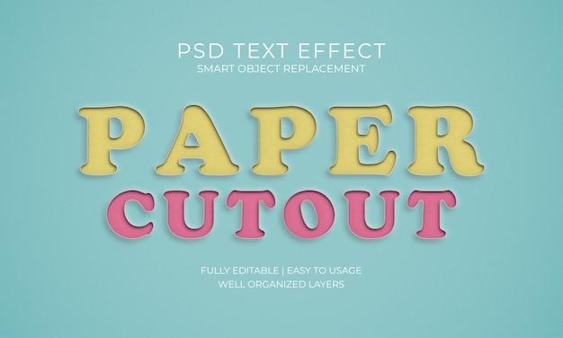 Effet texte de coupe papier