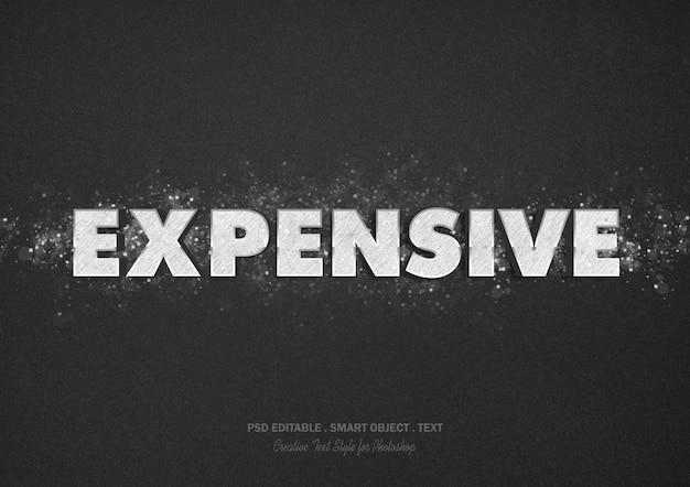 Effet de texte coûteux