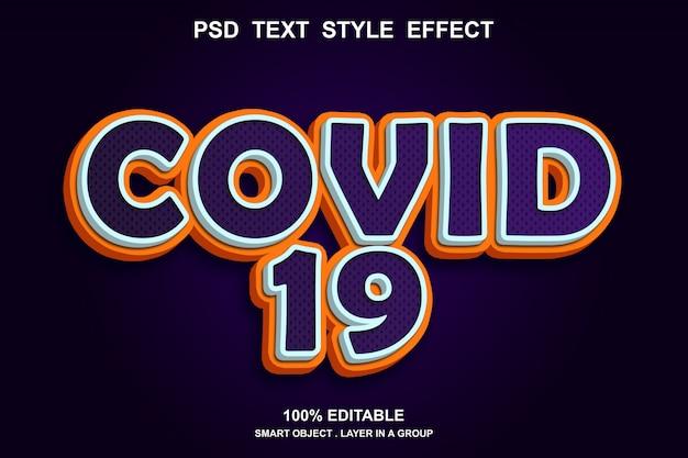 Effet de texte covid 19