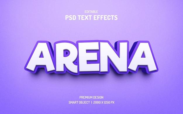 Effet de texte créatif de couleur violette