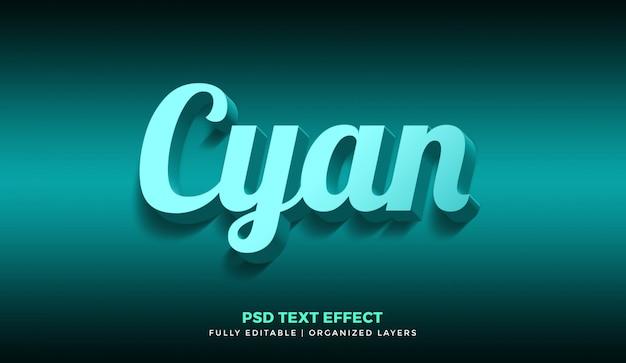 Effet de texte cyan 3d