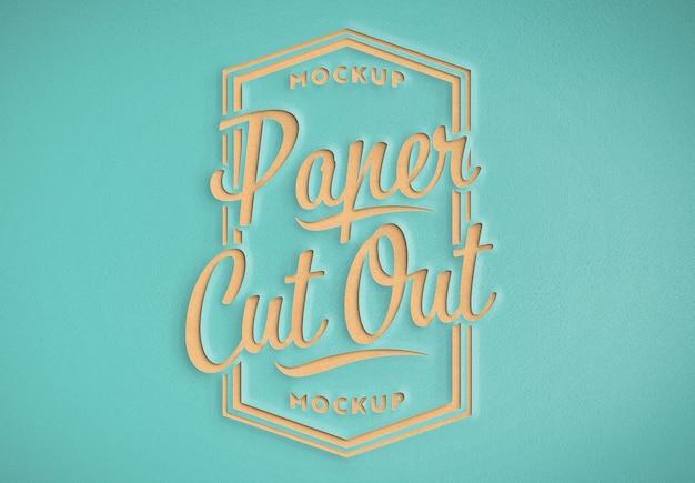 Effet de texte de découpe de papier