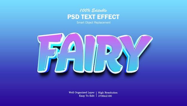 Effet de texte dégradé brillant féerique cool