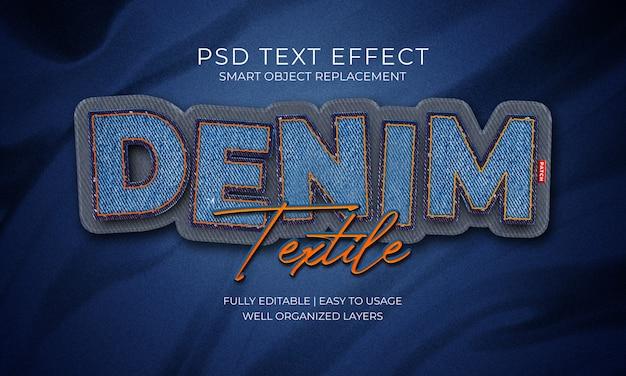 Effet de texte en denim textile patch