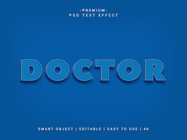 Effet de texte docteur