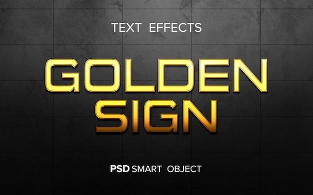Effet de texte doré créatif