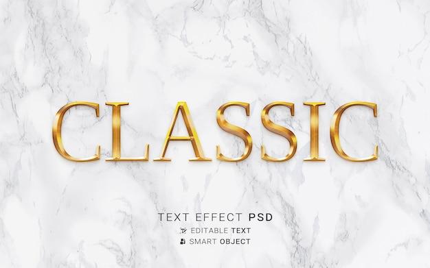 Effet de texte doré luxueux