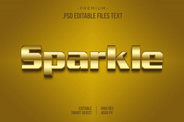 Effet de texte doré psd, définir un effet de texte magnifique abstrait élégant, effet de police modifiable de style texte étincelant