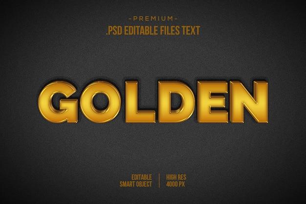 Effet de texte doré psd, définir un effet de texte magnifique abstrait élégant, style de texte 3d