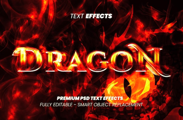 Effet de texte dragone