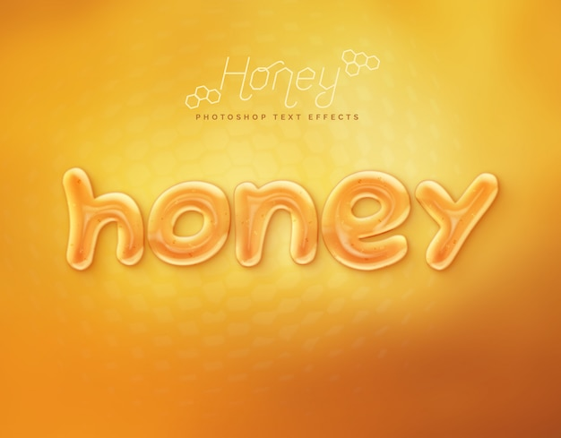 Effet de texte avec du miel