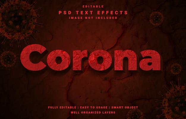 Effet de texte du virus corona covid-19