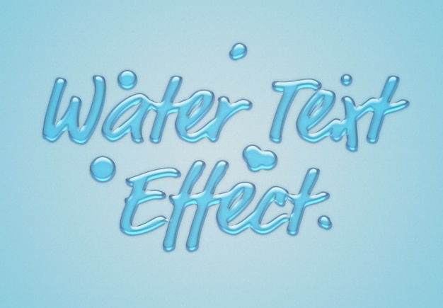 Effet de texte de l'eau bleue