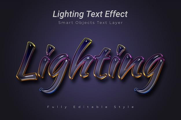 Effet de texte d'éclairage