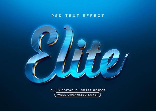 Effet de texte d'élite de style 3d