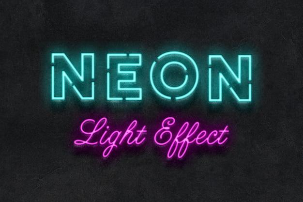 Effet de texte enseigne au néon