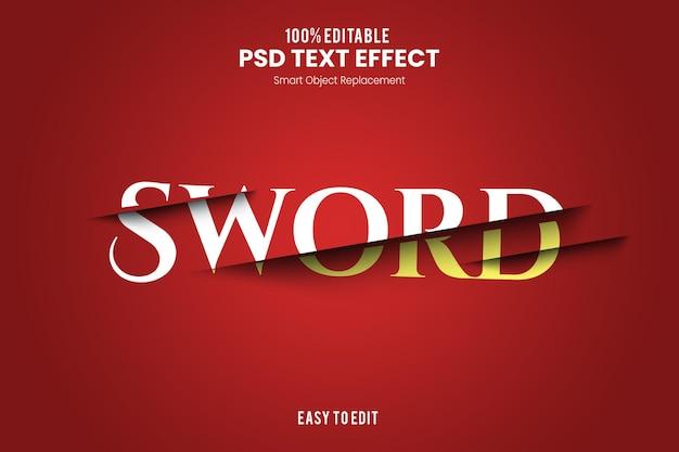 Effet de texte d'épée