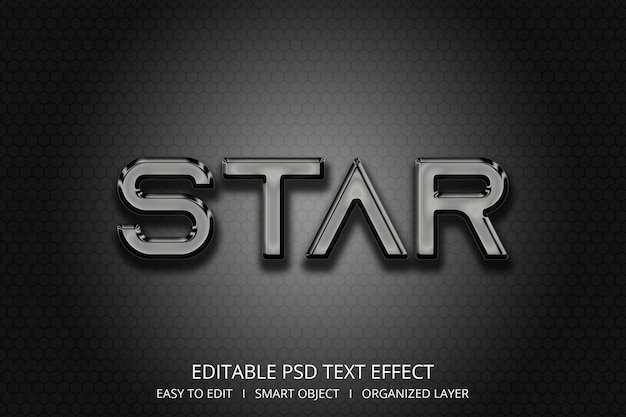 Effet de texte étoile 3d