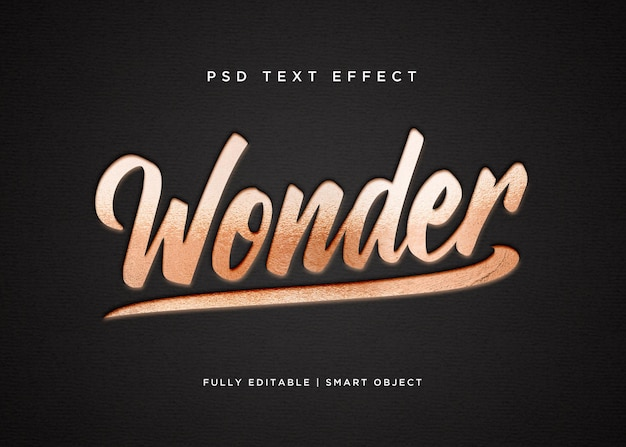 Effet de texte étonnant de style 3d