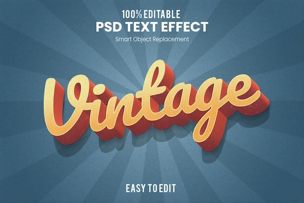 Effet de texte extrudé 3d vintage rétro