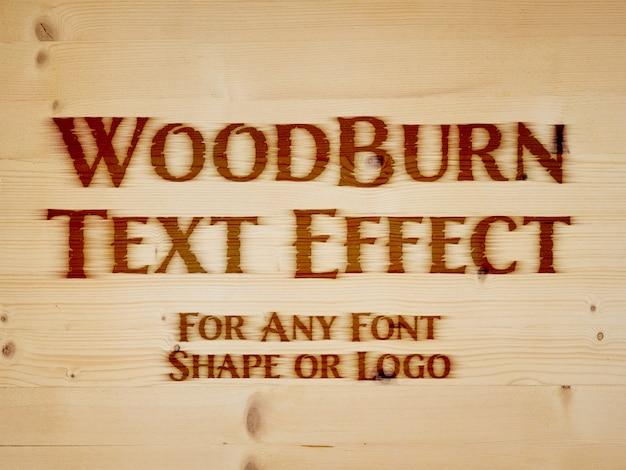 Effet de texte de fer de marque