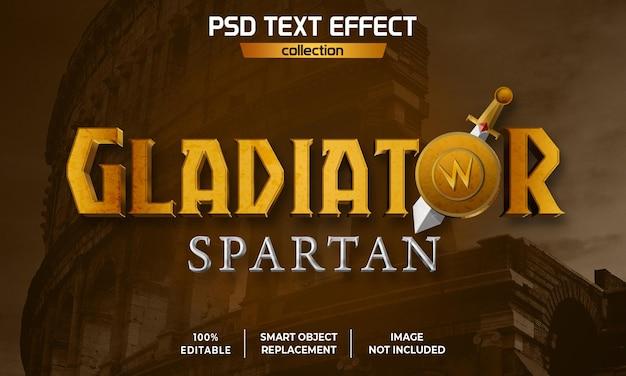 Effet de texte de film galdiator spartan