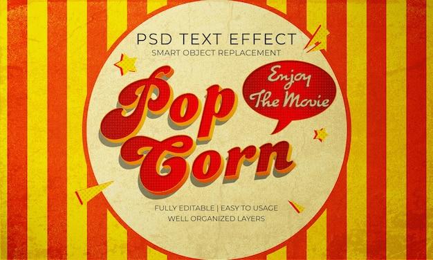 Effet de texte de film popcorn