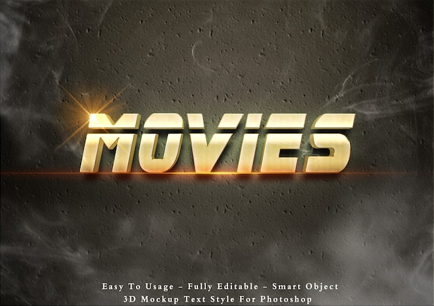 Effet de texte de films 3d