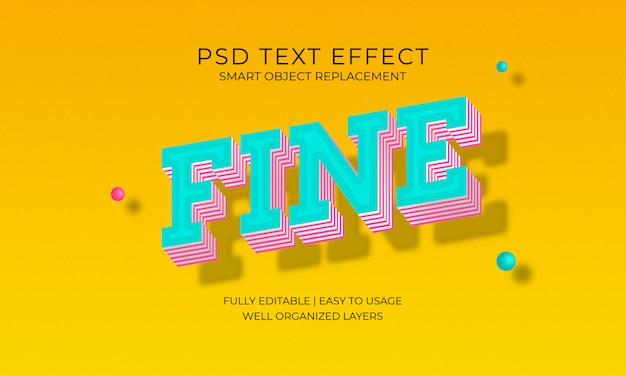 Effet de texte fin