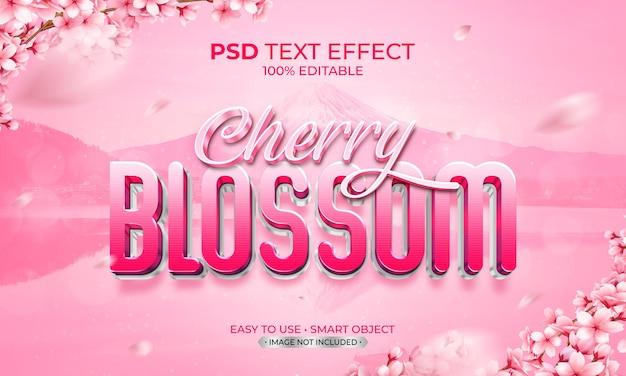 Effet de texte fleur de cerisier