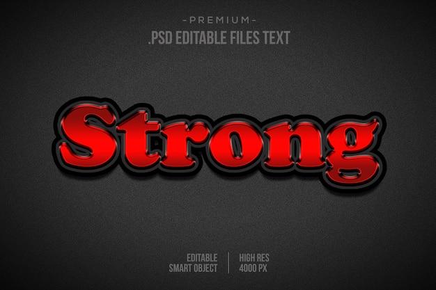 Effet de texte fort, définir un effet de texte fort abstrait élégant, effet de police modifiable de style texte fort