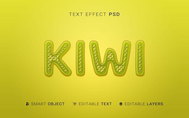 Effet de texte de fruits créatifs
