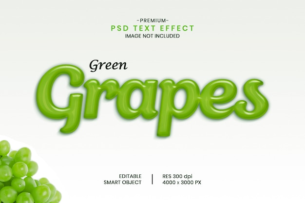 Effet de texte fruits raisins verts
