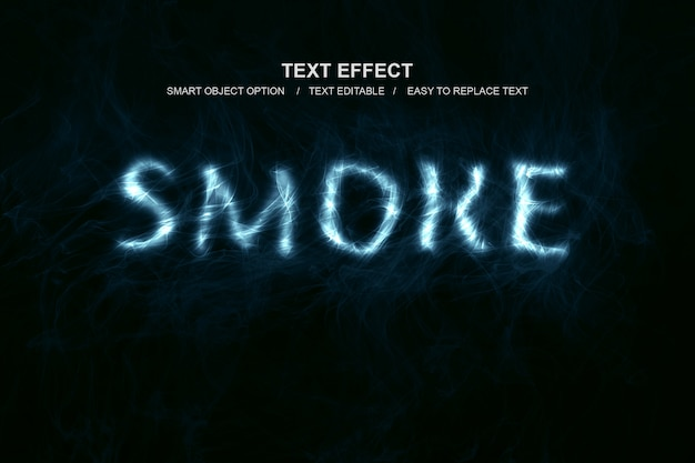 Effet de texte de fumée