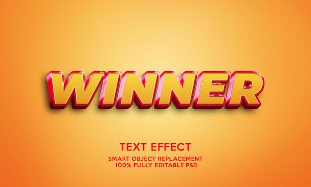 Effet de texte gagnant