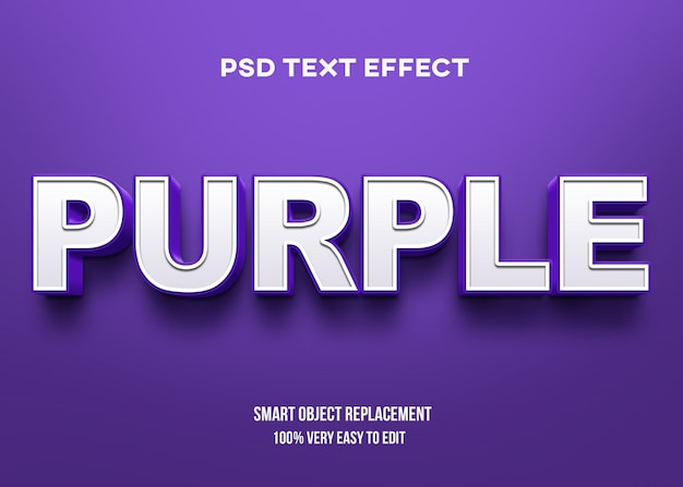 Effet de texte en gras violet