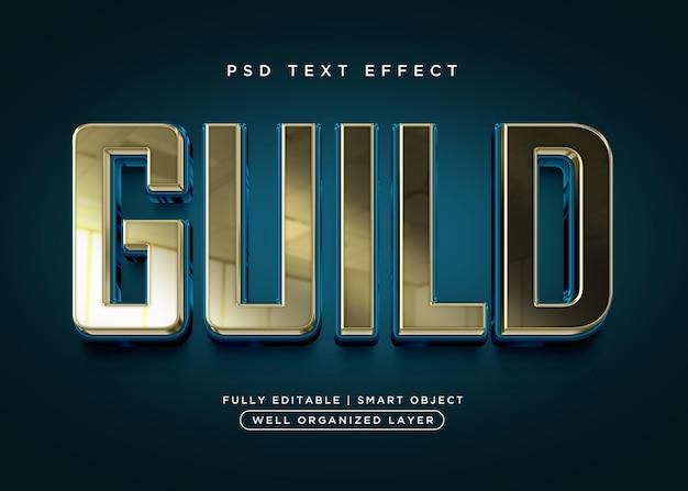 Effet de texte de guilde de style 3d