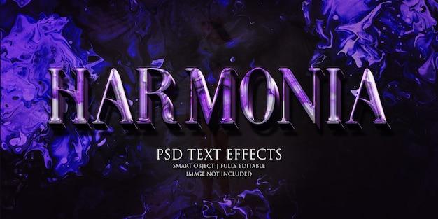 Effet de texte harmonia